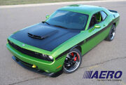 T/a Ram Air Functional Style Carbon Fiber Hood For 08-19 Dodge Challenger - Aero