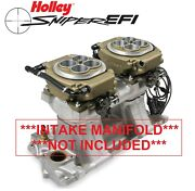 Holley Sniper Efi 550-529 4150 2x4 Dual Quad Fuel Injection Conversion Kit Gold