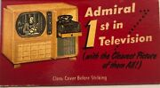 1950 Mid Century Admiral Fridge Stove Stereo System On Matchbook Cover
