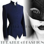 Jacket Droopy And Brown 6 8 10 Coat Vintage Riding Navy Blue Mistress 40and039s 30and039s