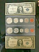 1935 1957 Silver Certificate And 1959p 1964p Bu Mint Sets .mixed Lot