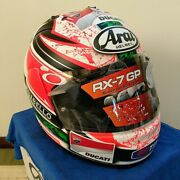 Rare Arai Genuine Oem Rx-7 Rr5 Nicky Hayden Full Face Helmet S Size With Sign