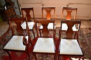 Antique Upholstered Dining Room Chairs By Hickory Chair Co, Set Of 6