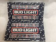 2 Boxes Vintage 1980's Bud Light Beer Can Party Camper Lights 18ft. In Box