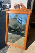 Vintage Solid Wood Wall Mirror Antique Furniture