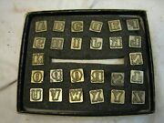 Leather Craftool Alphabet Letter Stamp Punch Set 1/2 Stamping Craft Tool