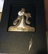 """Erte At 95 Book And Rigoletto"""" Bronze Sculpture Signed And Numbered"""
