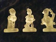 Three Gorgeous Goebel Crystal Collection 3.5 Figurines