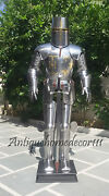 Medieval Wearable Knight Crusador Templar Armor Suit Vintage Costume With Sword