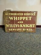 Original Authorized Service Whippet And Willys-knight Porcelain Sign Lot 48