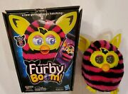 Furby Boom Black And Pink Stripes Talking Plush Toy By Hasbro Used, Tested, Works.