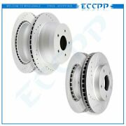 Front And Rear Brake Rotors For Chevy S-10 Blazer Pickup Gmc Envoy Olds Bravada