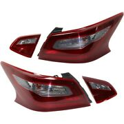 Tail Lights Lamps Set Of 4 Left-and-right Inside Lh And Rh For Nissan Altima 2018