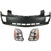 Headlight Kit For 2004-2009 Cadillac Srx Driver And Passenger Side Halogen