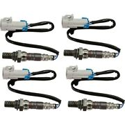 Set Of 4 O2 Oxygen Sensors Left-and-right Downstream For Chevy Avalanche Yukon