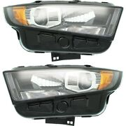 Headlight For 2015-2018 Ford Edge Driver And Passenger Side Pair