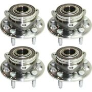 Wheel Hubs Set Of 4 Front And Rear Left-and-right For Chevy Lh Rh Chevrolet Impala