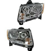 68088869aa, 68088868aa Ch2518139c, Ch2519139c Headlight Lamp Left-and-right