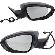 Pair Set Of 2 Mirrors Left-and-right Heated For Vw Vw1321157, Vw1321057 Coupe