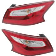 Ni2804106 Ni2805106 Tail Lights Lamps Set Of 2 Left-and-right Outside Pair