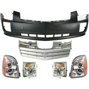 Set Of 6 Headlights Lamps Front For Cadillac Srx 2006-2009