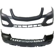 Mb1000401c, Mb1100306c Set Of 2 Bumper Covers Front And Rear For Mercedes Pair