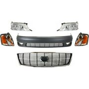 Bumper Covers Set Of 6 Front For Toyota Avalon 1998-1999