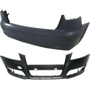 Pair Bumper Covers Set Of 2 Front And Rear Au1000169 8p0807105egru For Audi A3