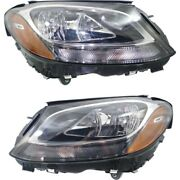 Headlight Lamp Left-and-right For Mercedes C Class Coupe Mb2502220c Mb2503220c