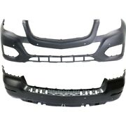Bumper Covers Set Of 2 Front And Rear For Mercedes Mb1000402c 2048802049 Pair
