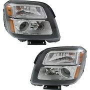 Headlight Lamp Left-and-right Lh And Rh Gm2502381c Gm2503381c 23319182 23319181