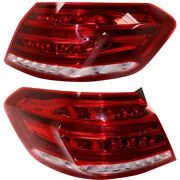Set Of 2 Tail Lights Lamps Left-and-right Outside For Mercedes E Class Pair