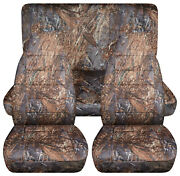 Full Set Front+rear Camo Reeds Car Seat Covers Fits 1989-1998 Geo Tracker