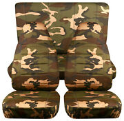 Full Set Front+rear Urban Camo Green Car Seat Covers Fits 1989-1998 Geo Tracker