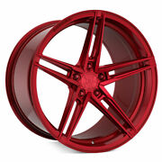 20 Rohana Rfx15 Red 20x10 20x11 Forged Concave Wheels Rims Fits Ford Mustang Gt