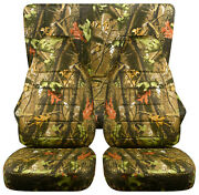 Full Set Front+rear Camo Green Tree Car Seat Covers Fits 1989-1998 Geo Tracker