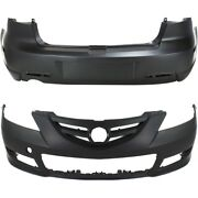 Set Of 2 Bumper Covers Front And Rear Ma1000214, Ma1100192 Sedan For Mazda 3 Pair