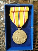 Original Us Ww2 Asiatic Pacific Campaign And Service Medal And Ribbon W/ Box