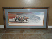 Bev Doolittle Wolves Of The Crow-indian-native American-horses-artframed