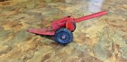 Antique Marx Cannon Howitzer Field Gun Spring Loaded Pressed Steel Toy 1930