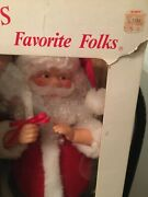 Motionette Santa Claus Christmas Animated 21andrdquo Tall Battery Lighted Vintage Iob