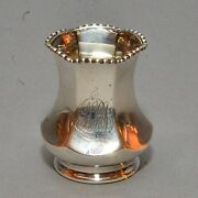 Antique Redlich And Co. Nyc Sterling Silver Toothpick Holder 1610 Monoand039d 1.29 Ozt