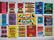Chewing Gum Wrappers 124pcs Germany, France, Spain, Holland, Brazil, Turkey