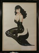 Olivia De Berardinis Up Periscope Bettie Betty Mae Page As Mermaid Lithograph
