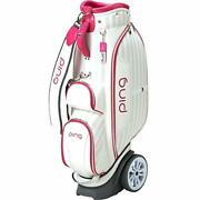 Ping Golf Ladies Cart Caddy Bag With Wheel 8.5 X 46 In 4.4kg White Pink Cb-l192