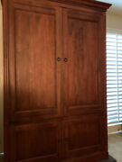 Ethan Allen Tv Armoire Country Crossings Fine Furniture Maple H=71 W=44 D=24in