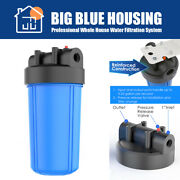10 X 4.5 Big Blue Whole House System Water Filter Housing + Wrench Fit Cto Pp