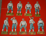 Antique 1894 Mcloughlin Brothers Detroit Wolverines Partial Baseball Card Set