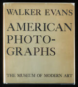 Walker Evans American Photographs First Edition 1938 Moma W/dust Jacket Superb