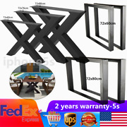 Iron Metal Table Legs 28 /23 For Dining Table Desk 2pc Heavy Duty